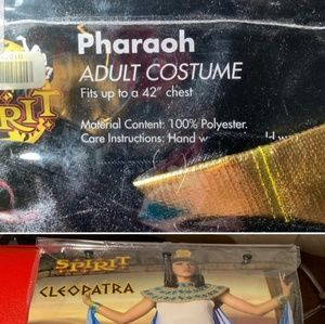 Halloween costume pharaon and Cleopatra complete